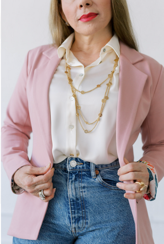 womens work outfit, womens pink blazer, womens pink jacket, womens business casual outfit