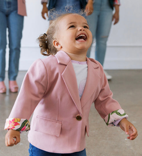 toddler blush blazer, mommy and me blush blazer, girls blazer