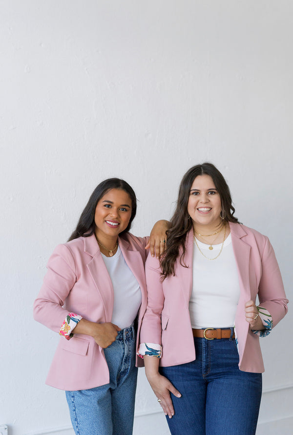 womens blush blazer with pockets, mothers day outfit, pink blazer