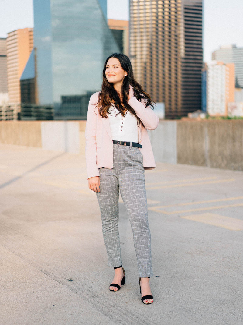 Blush Everyday Blazer with inside pockets