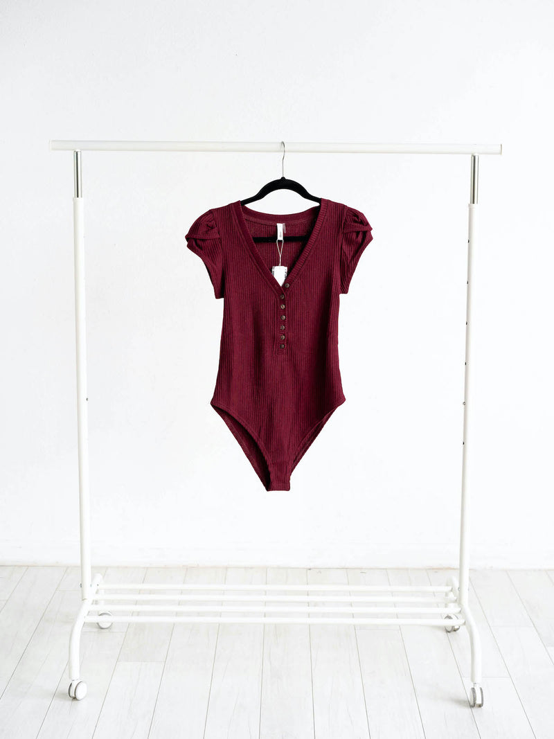 Glam Bodysuit | Burgundy