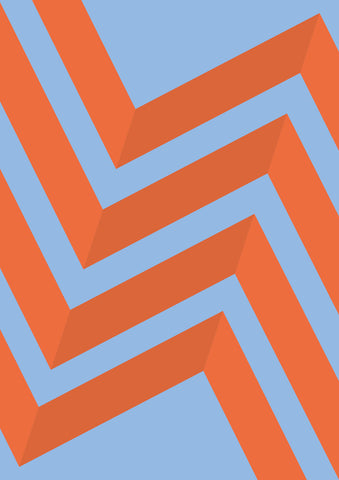 Striped Colored Corners #06