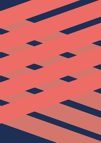 Striped Colored Corners #07