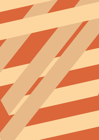 Striped Colored Corners #08