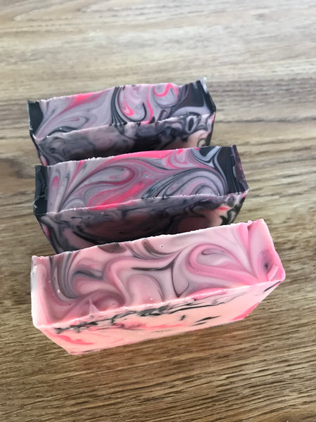 Black cherry cold processed soap