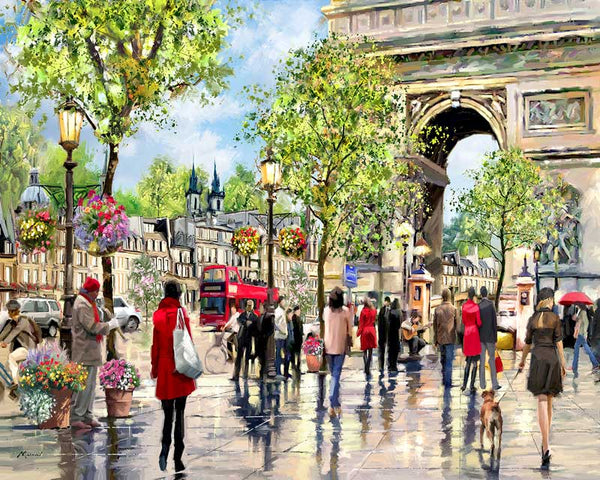 Paint By Numbers - Arc De Triomphe