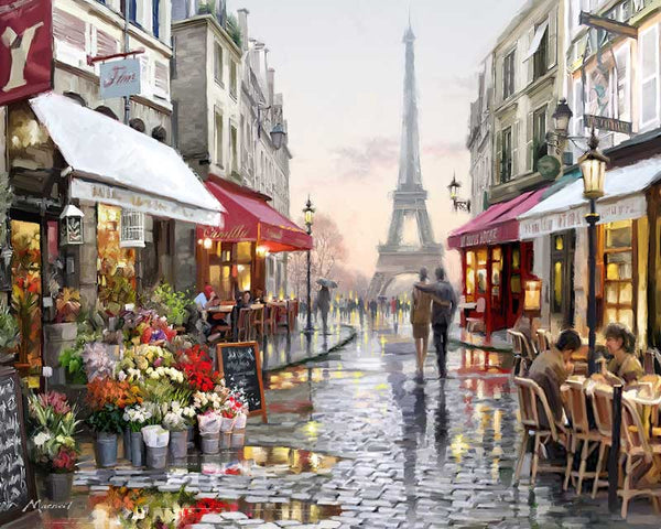 Paint By Numbers - Eiffel Scene