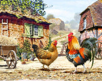 Paint By Numbers - Farmyard Chickens