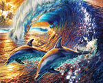 Paint By Numbers - Surfing Dolphins