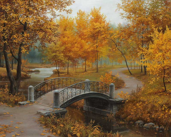 Paint By Numbers - Autumn Bridge