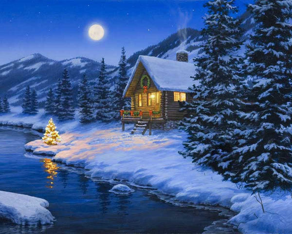 Paint By Numbers - Christmas Cabin