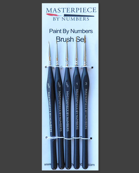 Paint By Numbers - Paint Brush Set - 5 Piece