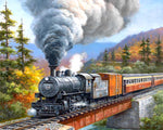 Paint By Numbers - Mountain Train