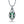Neon Tourmaline Necklace with D Flawless Diamonds set in 18K White Gold