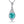 Load image into Gallery viewer, Paraiba Tourmaline Necklace with D Flawless Diamonds set in 18K White Gold