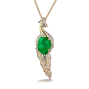 Baroque Colombian Emerald Necklace with D Flawless Diamonds set in 18K Yellow Gold