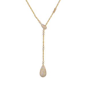 D Flawless Diamond Necklace set in 18K White Gold