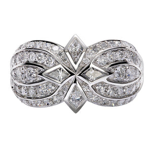 D Flawless Diamond Ring set in Platinum