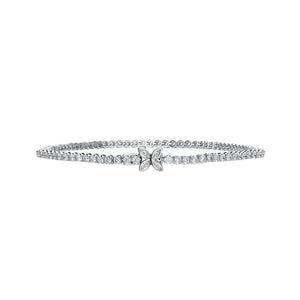 D Flawless Diamond Bracelet set in Platinum