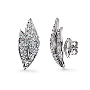 D Flawless Diamond Earrings set in 18K White Gold