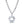 Load image into Gallery viewer, D Flawless Diamond Necklace set in 18K White Gold