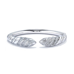 D Flawless Diamond Bangle set in 18K White Gold