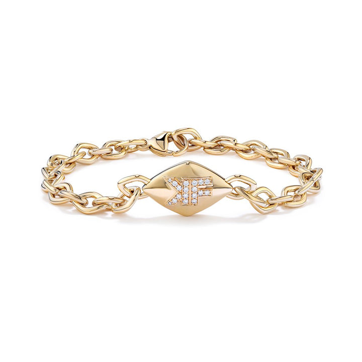 D Flawless Diamond Bracelet set in 18K Yellow Gold