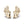 Load image into Gallery viewer, D Flawless Diamond Earrings set in 18K Yellow Gold