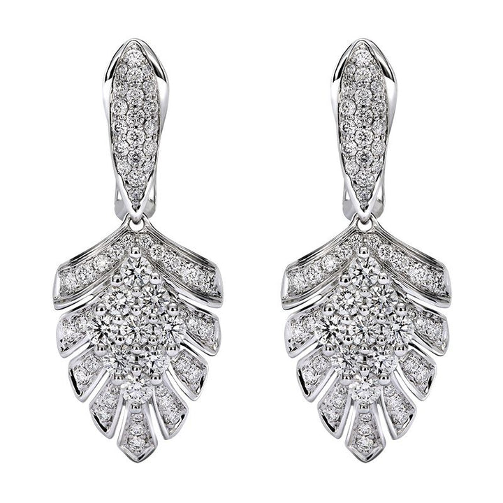 D Flawless Diamond Earrings set in Platinum