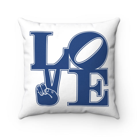"""LOVE"" Spun Polyester Square Pillow"