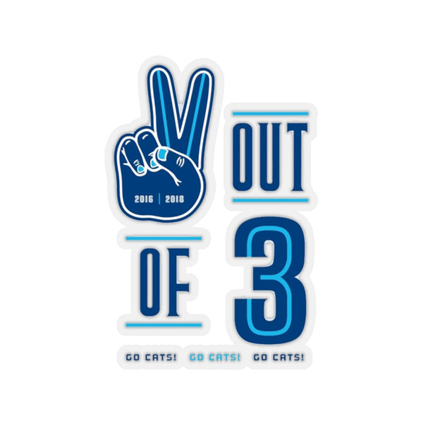 """2 Out of 3"" Sticker"