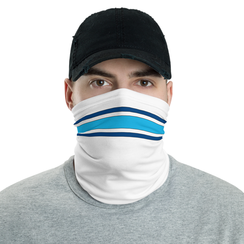 White & Blue Neck Gaiter