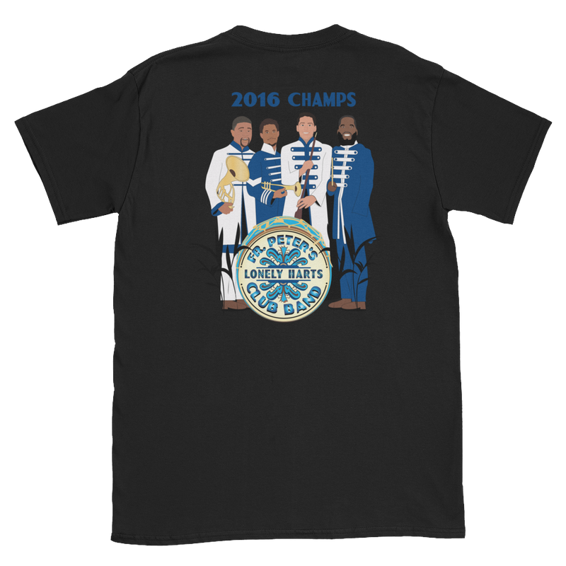 """Fr. Peter's Lonely Harts Club Band"" Double-Sided Women's T-Shirt"