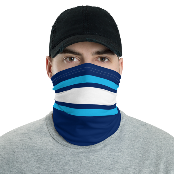 Blue & White Neck Gaiter