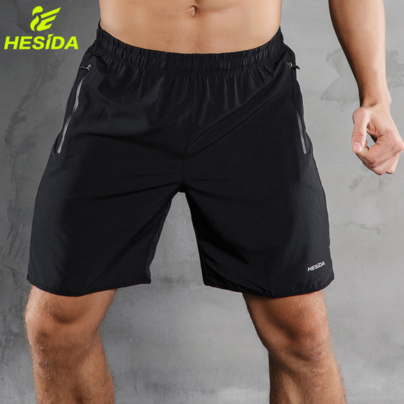 Men Sports Running Shorts Pants Quick Dry Breathable Running Workout Bodybuilding Pocket Tennis Gym Training Short Men Fitness