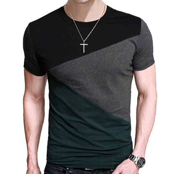 Male Short Sleeve T Shirt O-Neck
