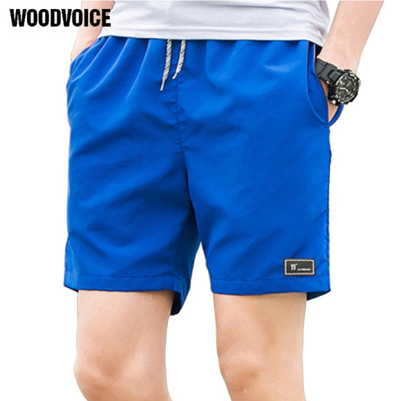 2018 Casual Shorts Men Breathable Shorts Male Elastic Waist Beach Shorts Mens Knee Length Quick Drying Jogger Board Shorts Homme