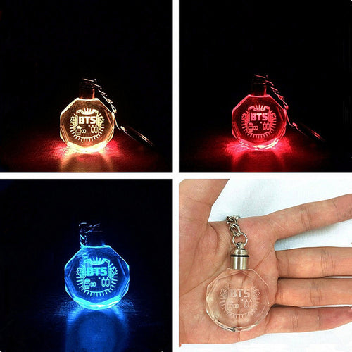 BTS LED Keychain