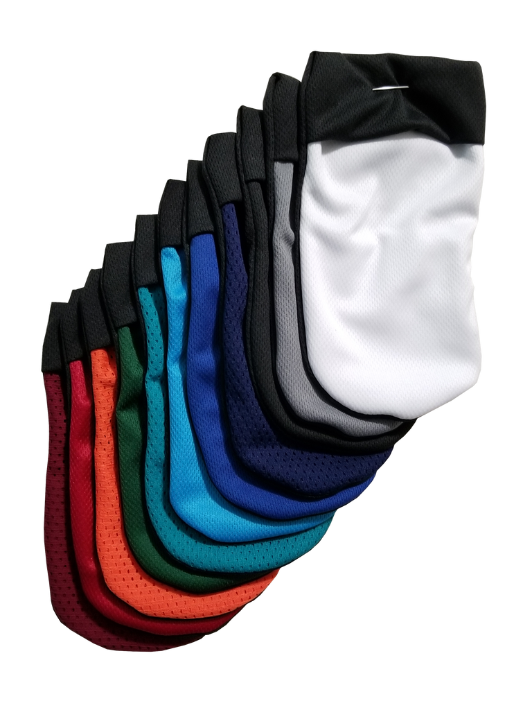Micro mesh gym short material packing pouch for FTM, trans masculine and non-binary people. Joeys hold your packer in place. In a variety of colours.