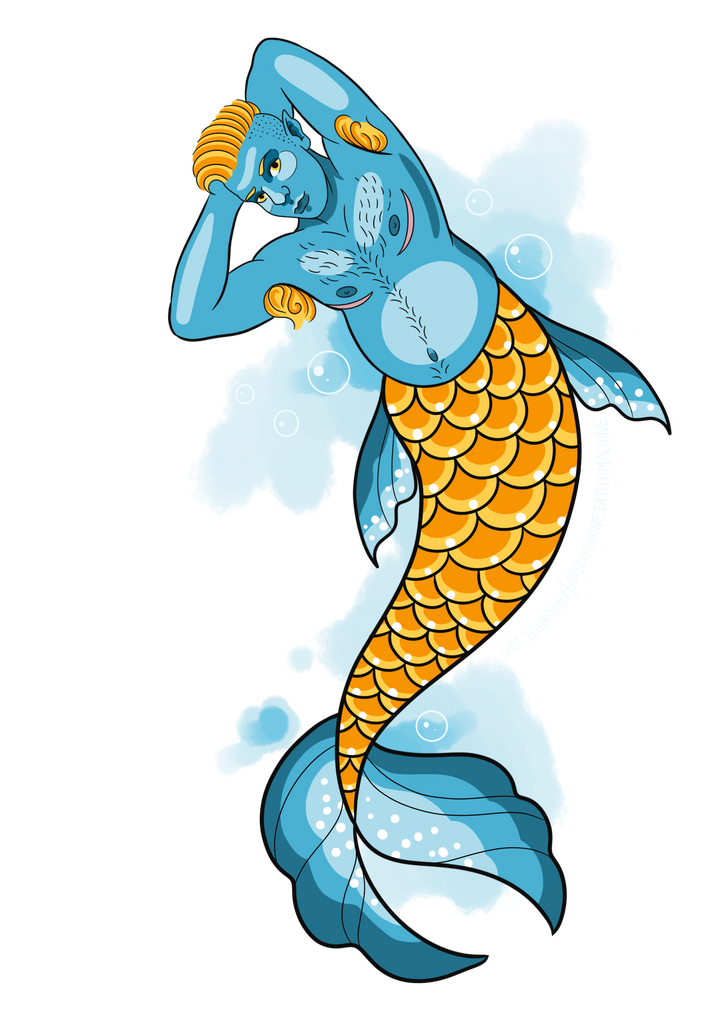 Merman Sticker