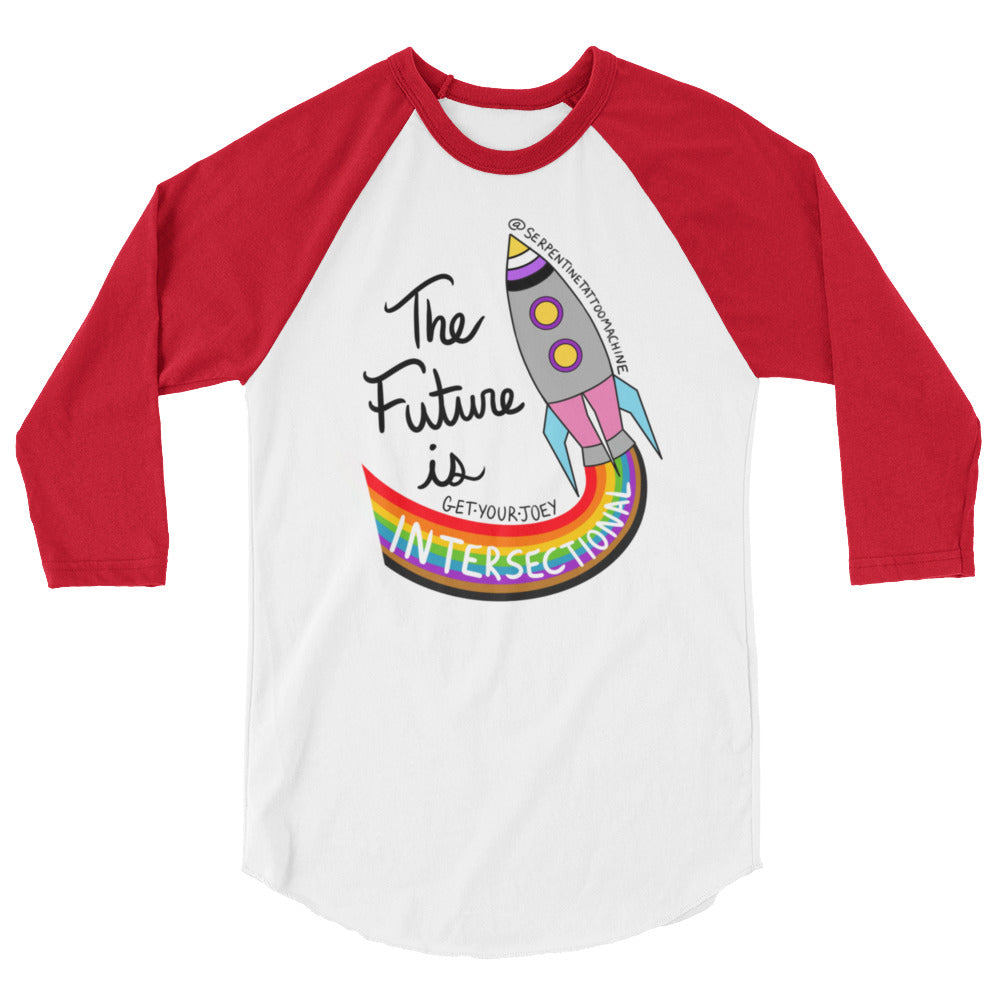 The Future 3/4 sleeve raglan shirt