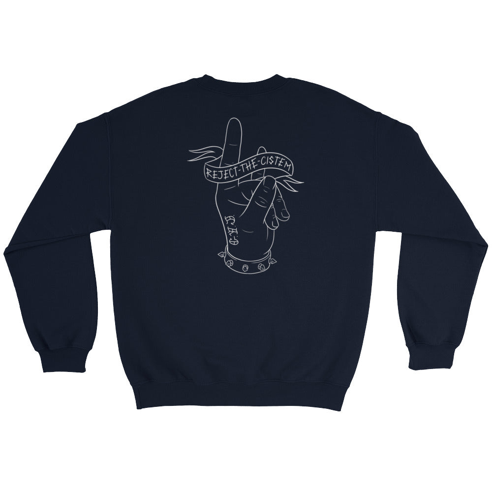 Reject the Cistem Outline Hand Sweatshirt