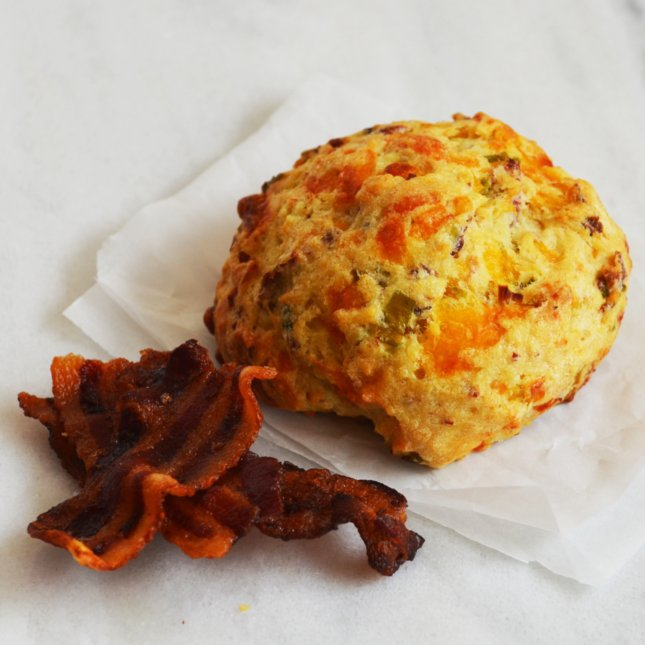 Bacon, Cheddar and Chive Scone