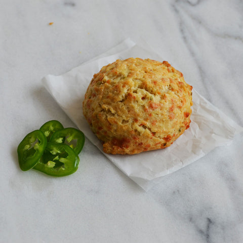 Jalapeno, Green Olive & Cheddar Sconie (Mini-Scone)