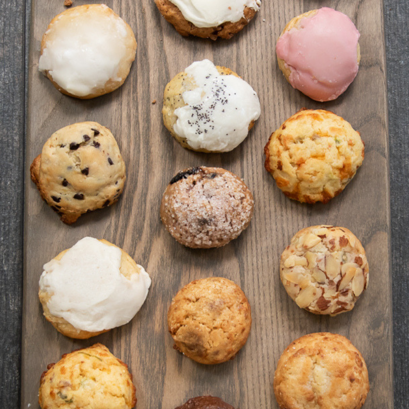Qtrly Subscription: Baker's Dozen Gourmet Sconie (Mini-Scone) Box