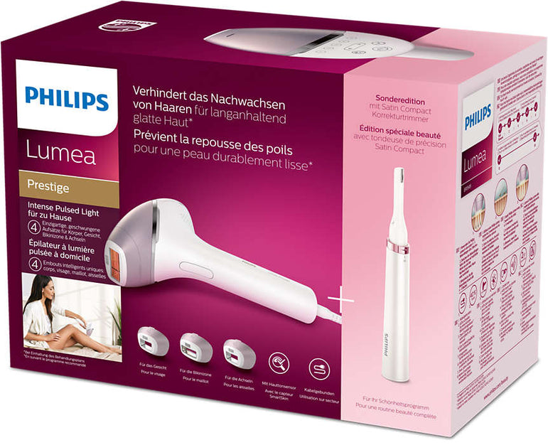 Philips Lumea BRI949/00 Prestige IPL Hair Removal Tool & 1 Precision Trimmer