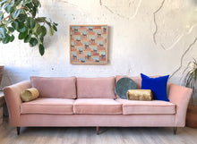 Load image into Gallery viewer, Blush Velvet Sofa