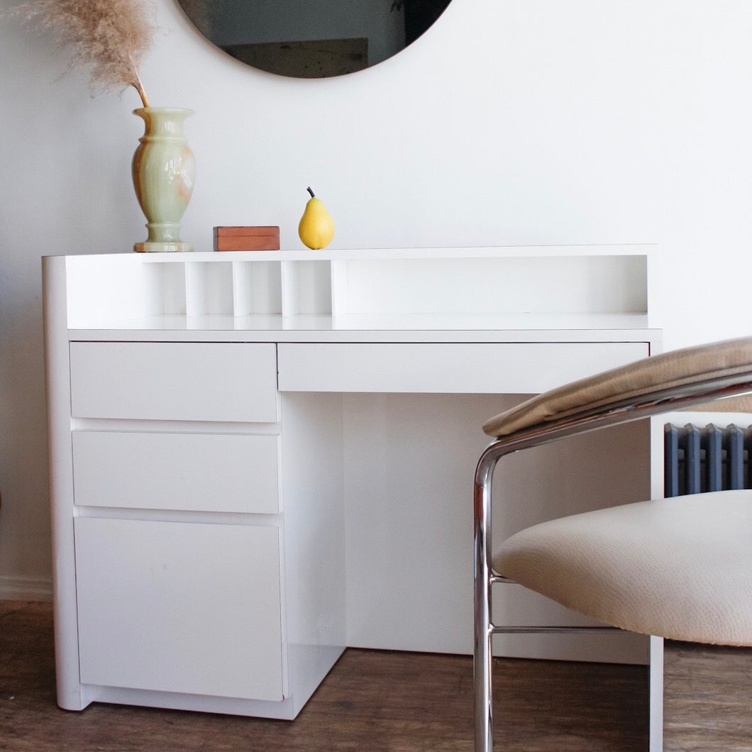 Ivory Lacquered Desk
