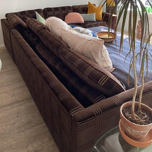 Chocolate Sectional with Fold Out Bed