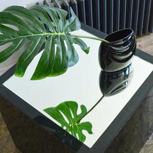 Smoke Acrylic & Glass Side Tables